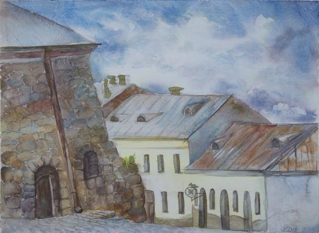 Таким двор Выборгского замка увидела  Виктория Красноярова