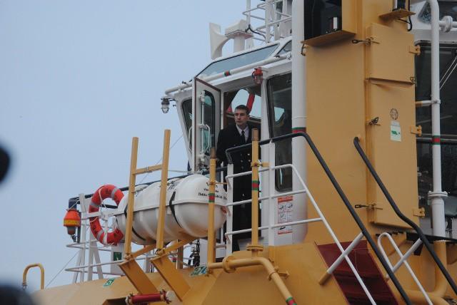 Капитан рейдового буксира РБ-366  на пороге своего рабочего «кабинета»